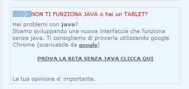 chat senza java